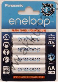 new! Panasonic Eneloop AA 4 Pack (BK-3MCCE)